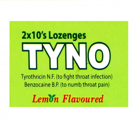 TYNO Lozenges Lemon