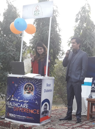 Mr. Hamza and Ms.Fatima Hosting the Event